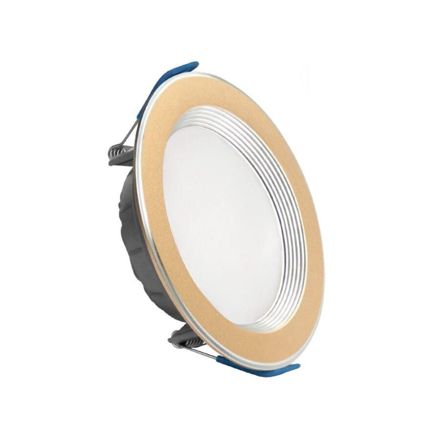 Đèn LED Downlight viền vàng nhôm ELD2026/9A,W